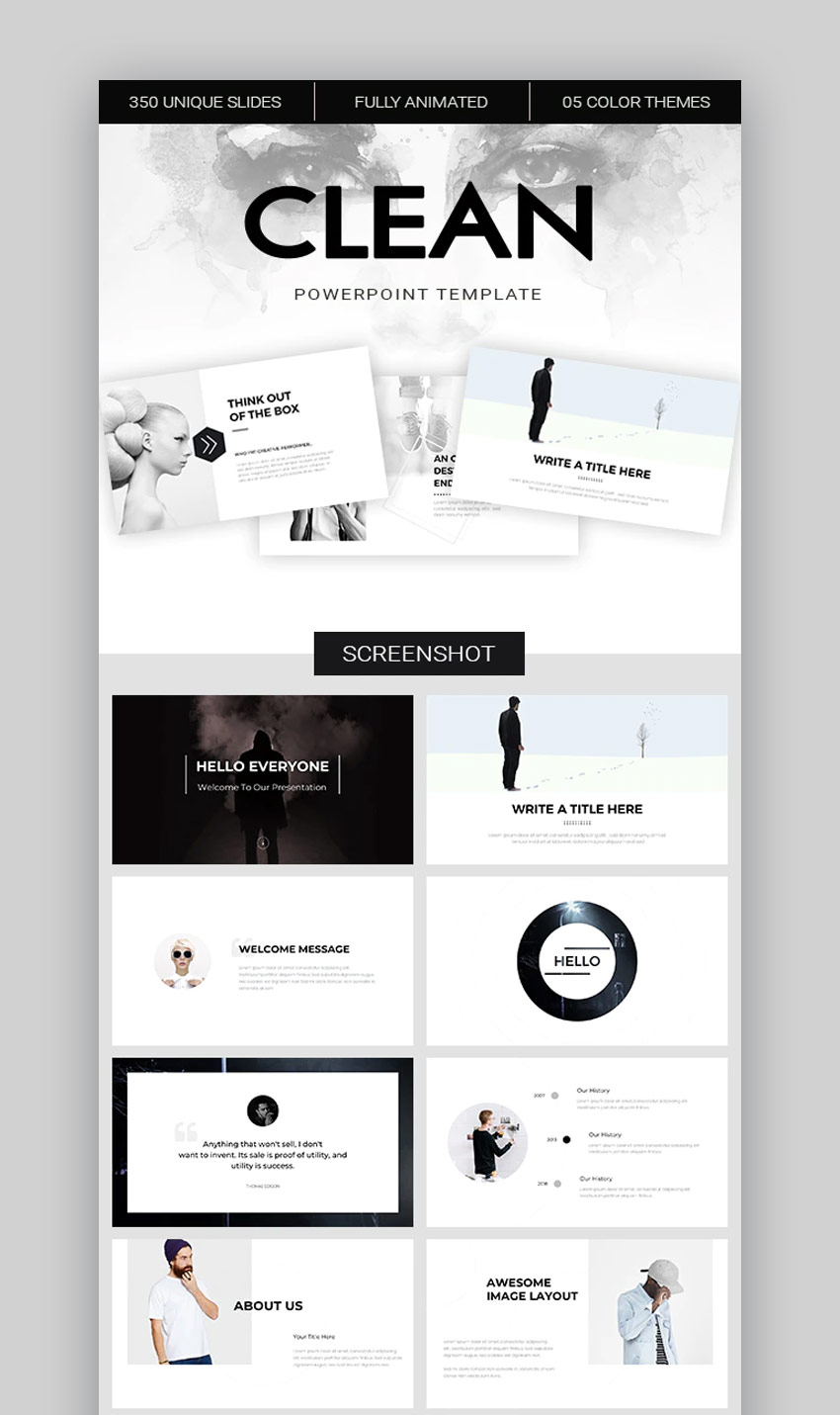 Clean PowerPoint design template