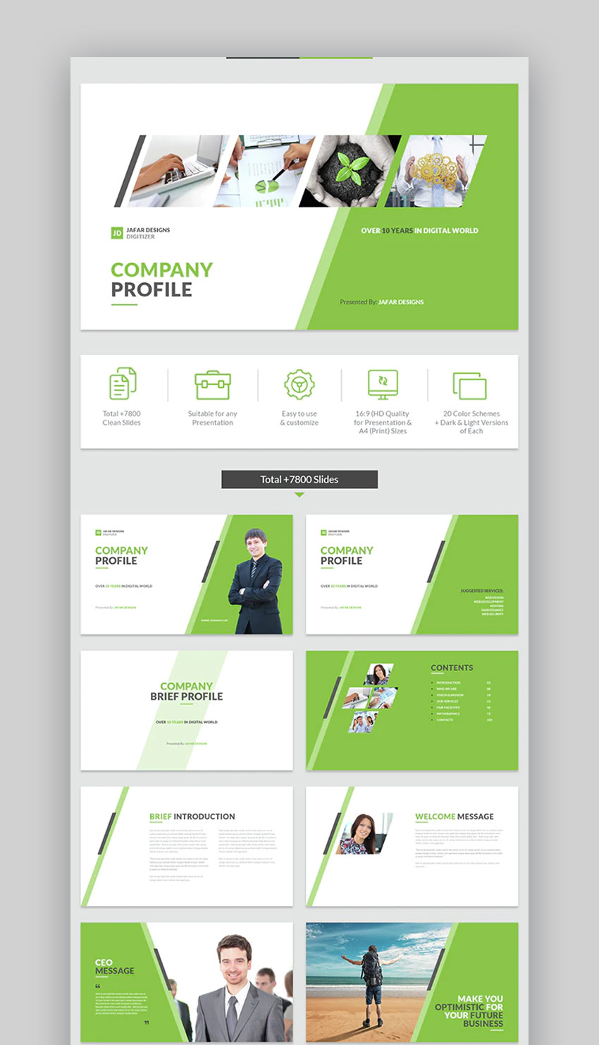Company Profile PowerPoint design template