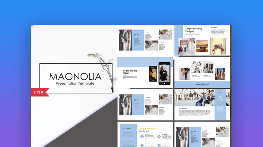 Magnolia Creative PowerPoint Template