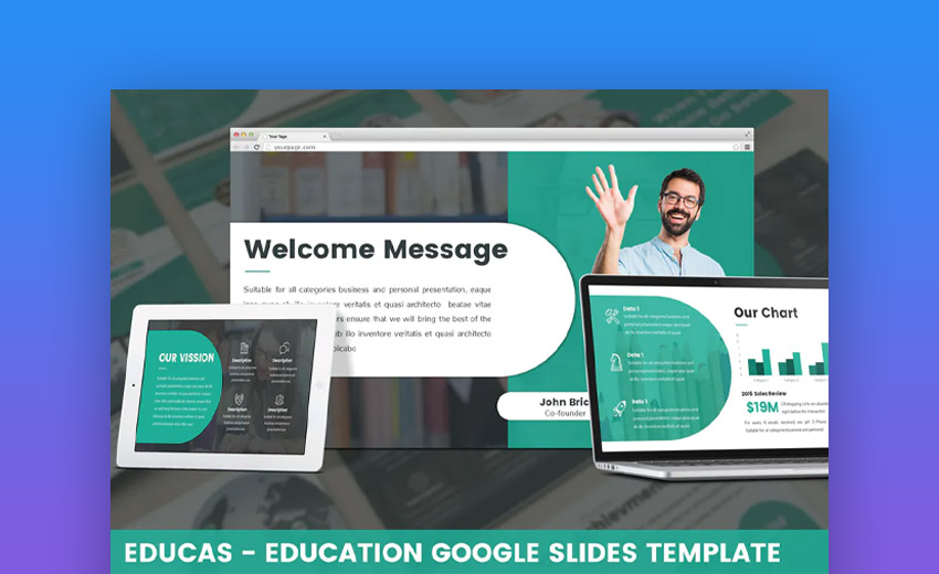 Educas Google Slides template for teachers