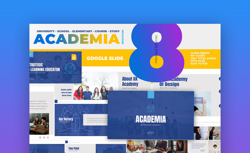 Academia Education Google Slides template
