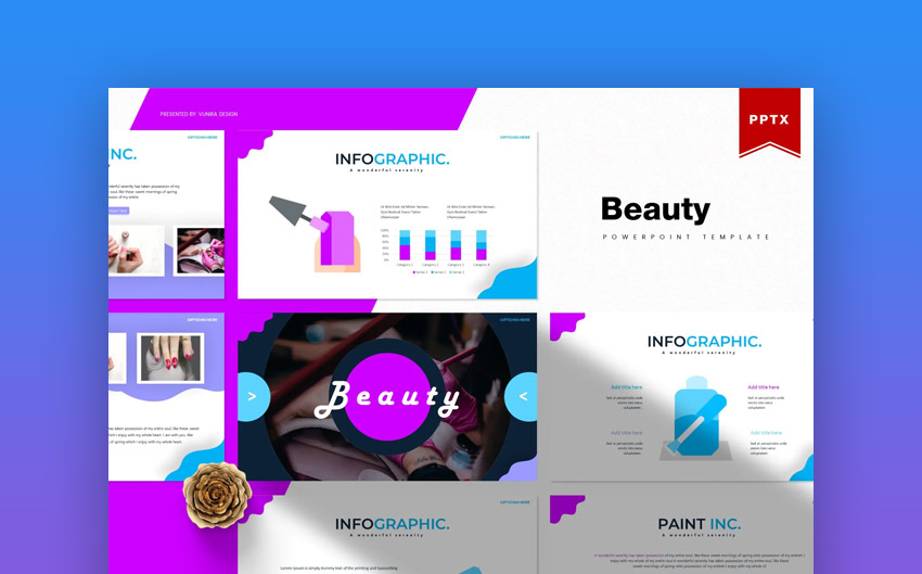Beauty PowerPoint Template with Graphics