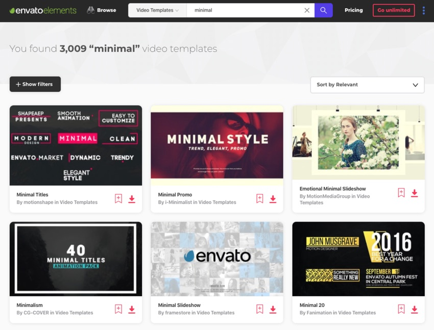Envato Elements creative library