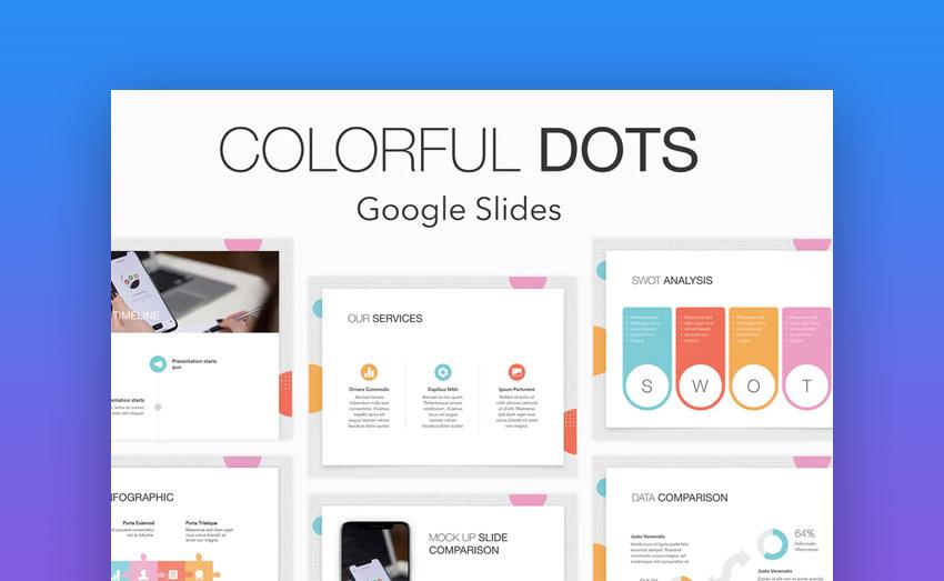 Colorful Dots Google Slides