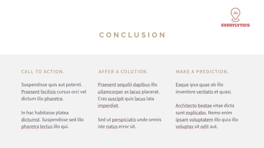Conclusion Keynote Slide