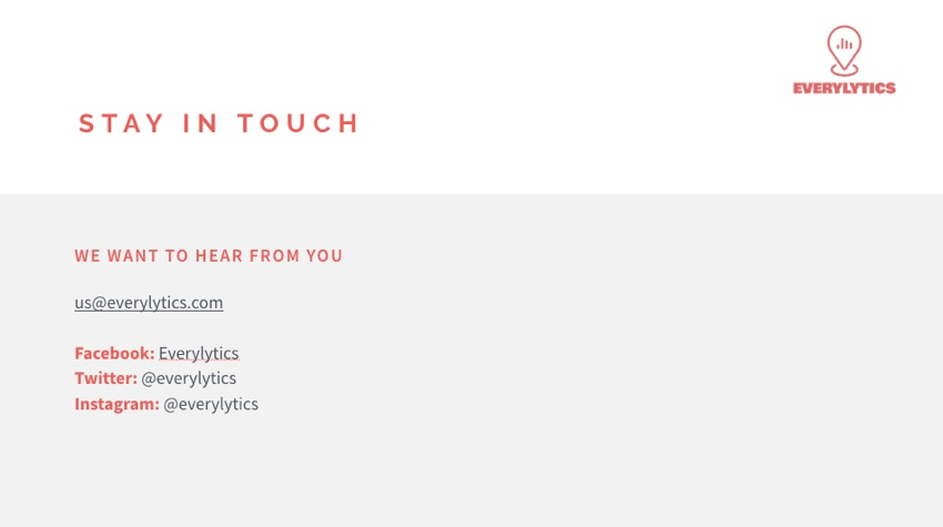 Stay in Touch Finished Keynote Design