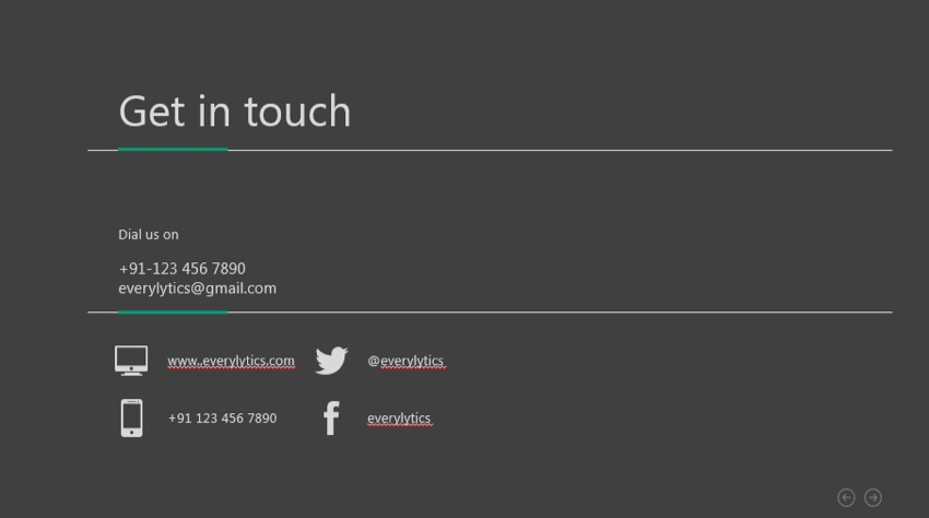 Get in Touch PowerPoint Template