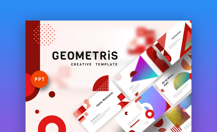 Geometris creative PowerPoint template