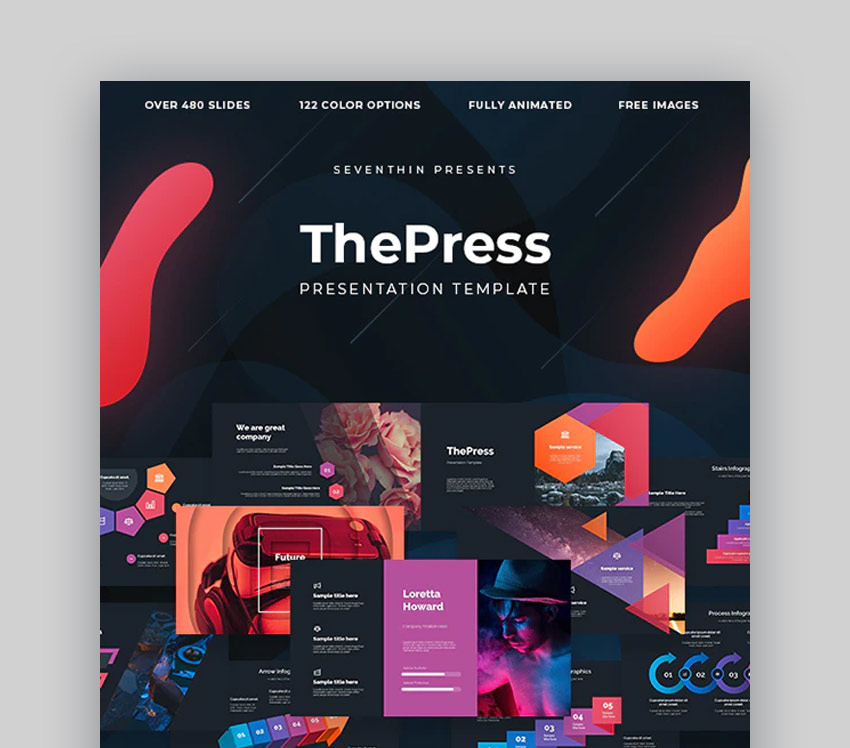 ThePress Microsoft PPT templates