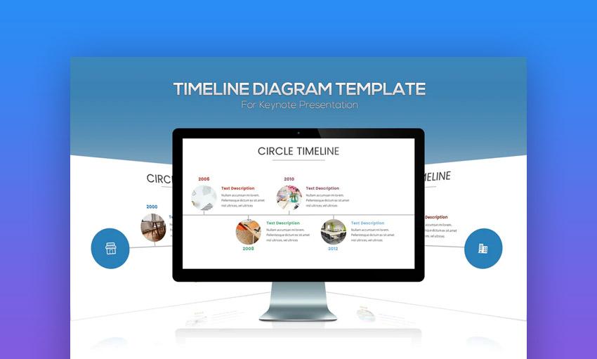 Keynote timeline diagram