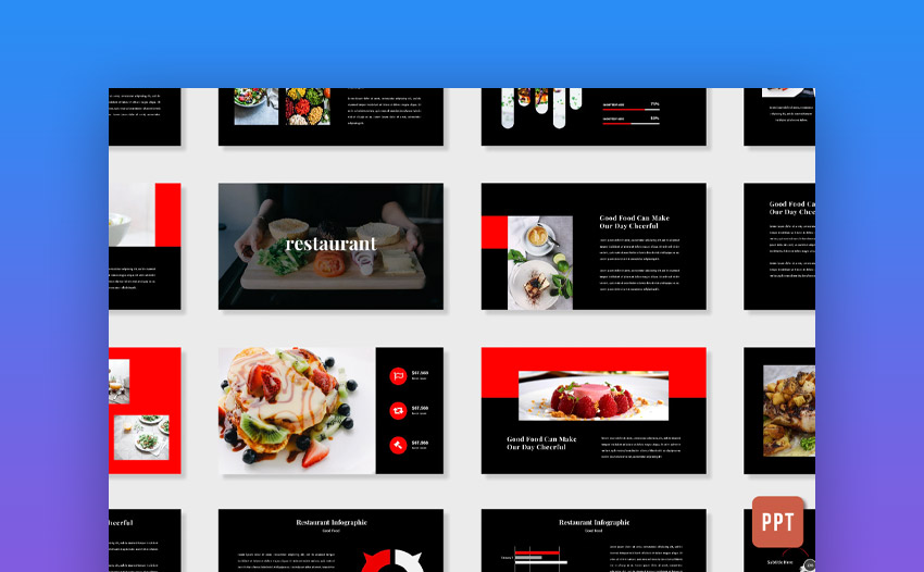 Red food PowerPoint template