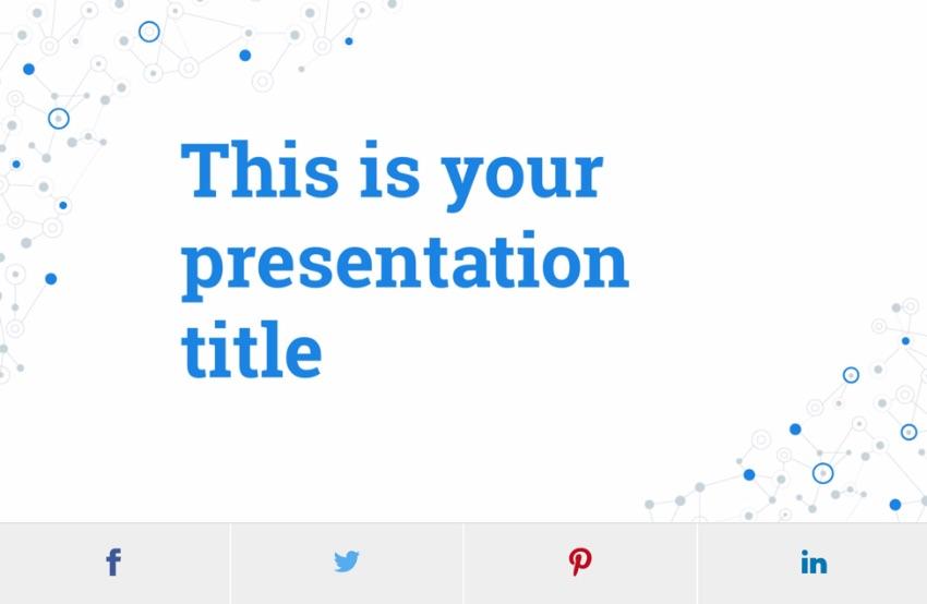 Free PowerPoint templates social media theme