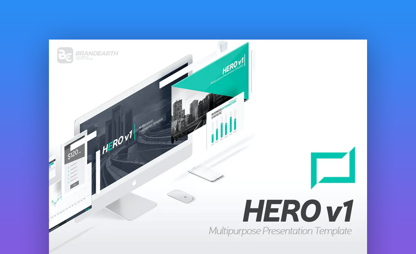 Hero animated PowerPoint templates