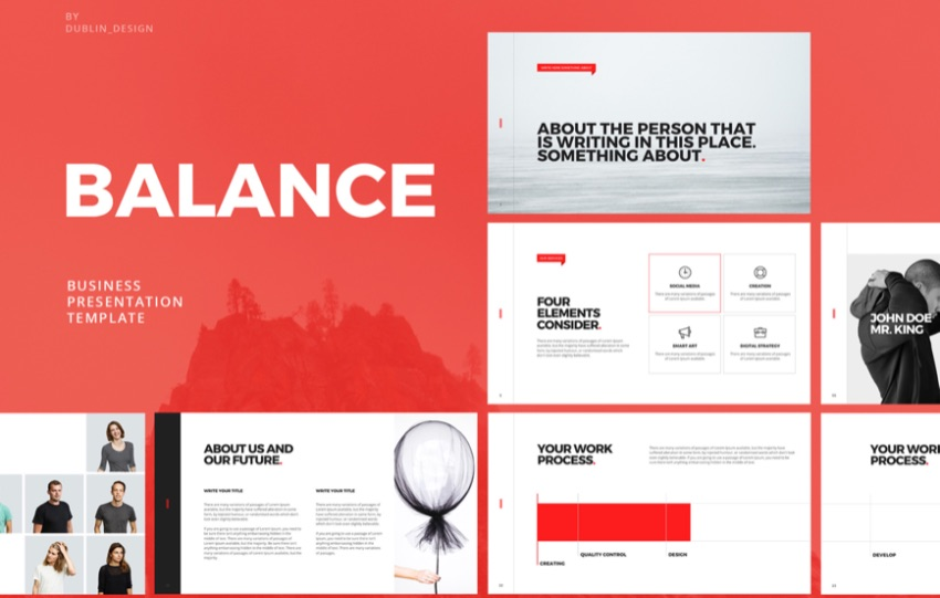 Balance free Keynote templates for business