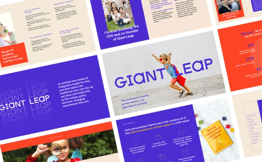 Giant leap Keynote business plan template