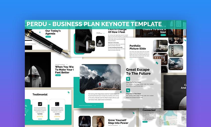 Perdu Keynote business presentation