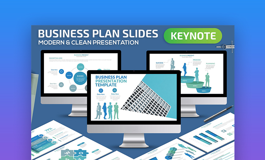 Plan for business Keynote templates