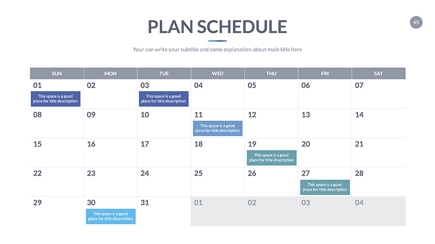 google slides calendar template 2020