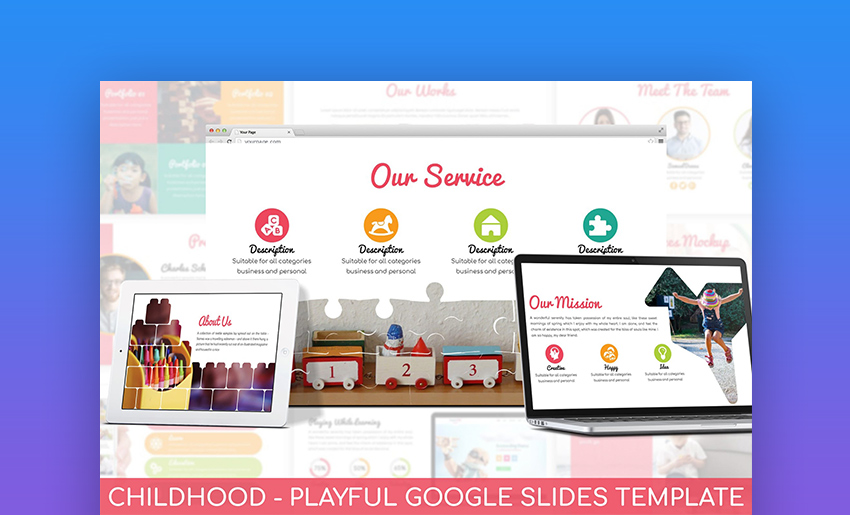 Childhood fun Google Slides templates