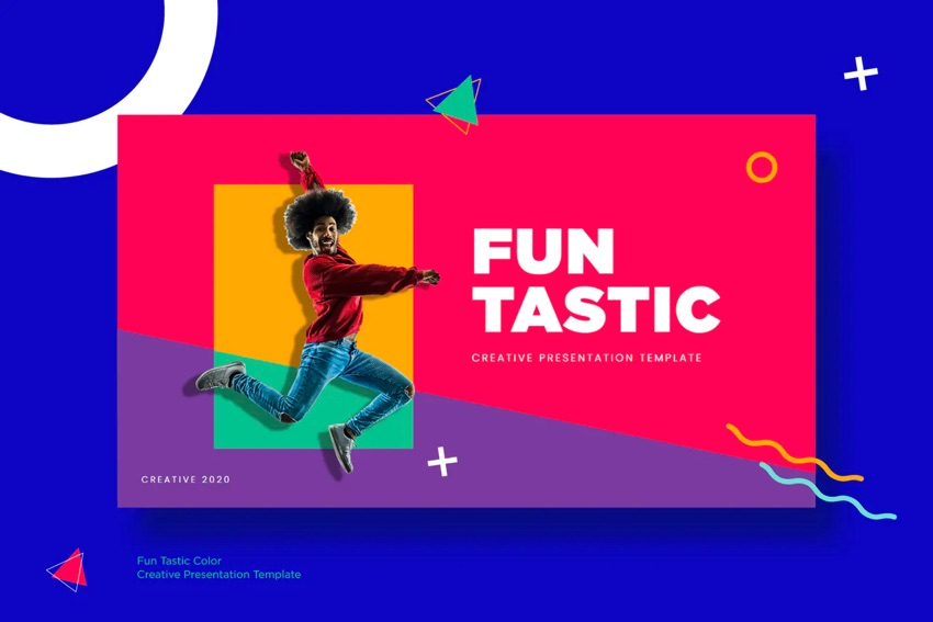 Funtastic fun Google Slides template intro