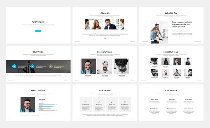 Agio online PPT template