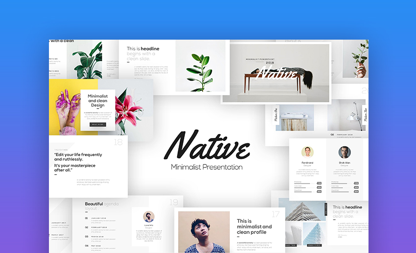 Native Download PowerPoint templates online