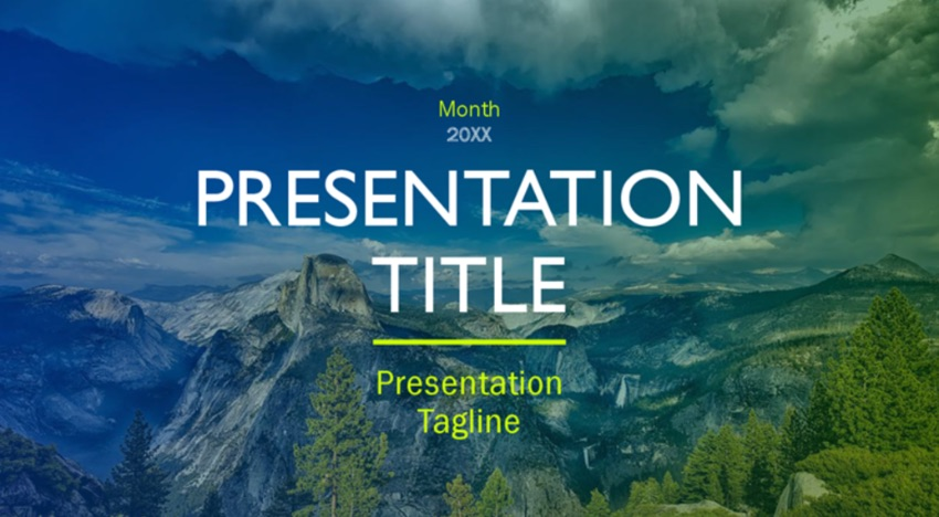 Outdoors Microsoft online PPT templates