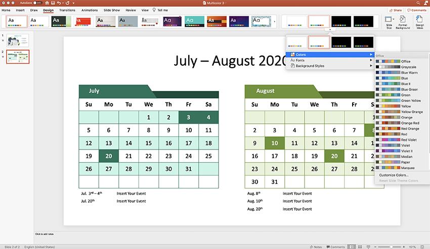 Calendar PPT step 5