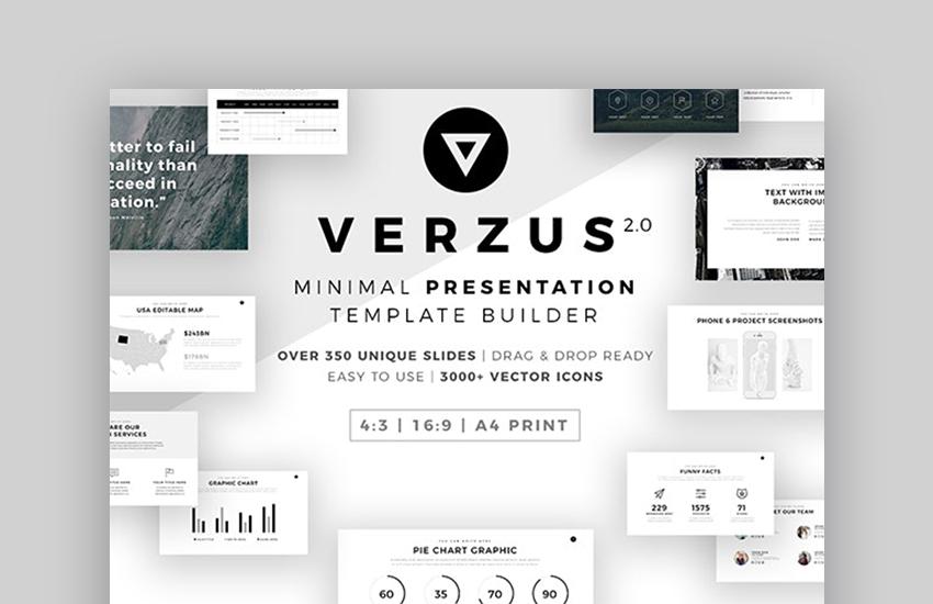 Verzus custom PowerPoint backgrounds