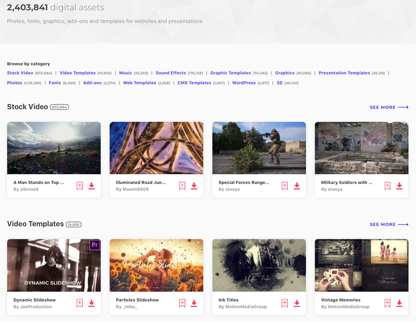 Envato Elements all items