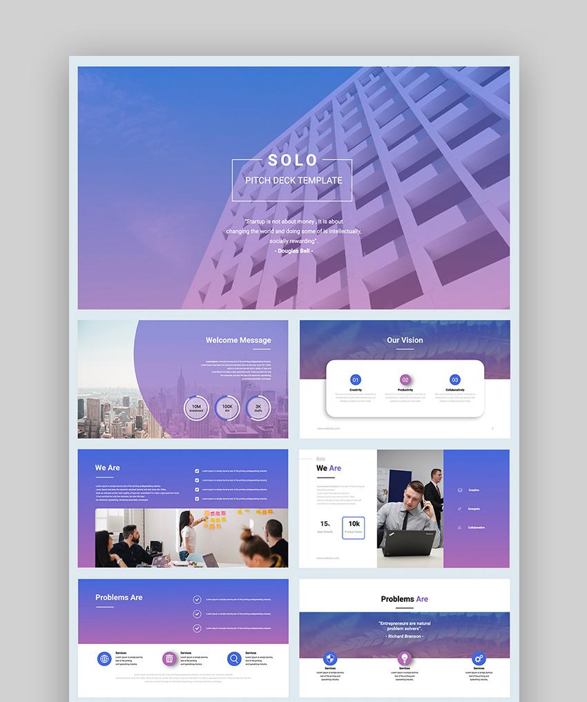 Solo pitch presentation template