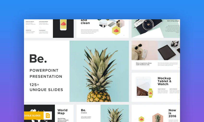 Be professional google Slides templates