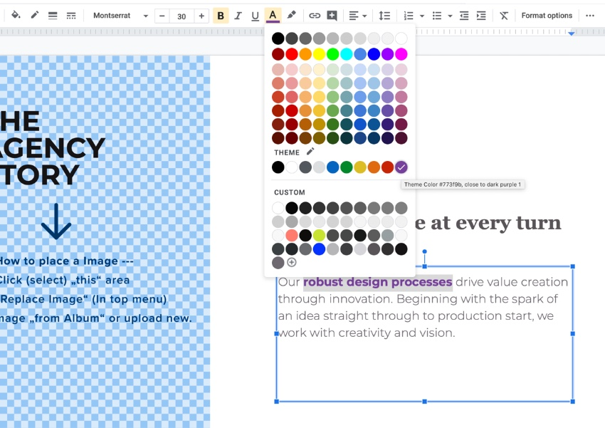Step 3 professional themes for Google Slides