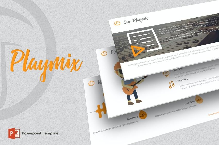Playmix music PowerPoint template