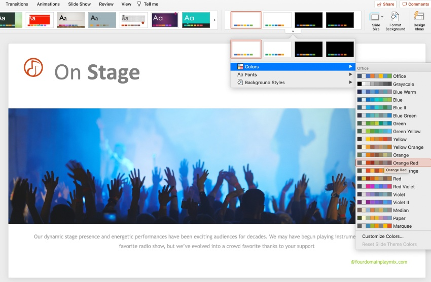 Step 5 music PPT template