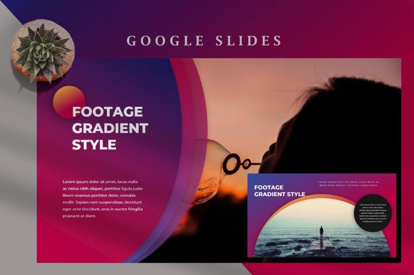 Google Slides photo template