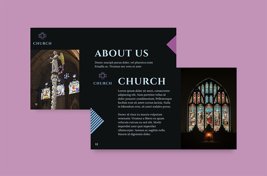 Church rainbow PowerPoint background