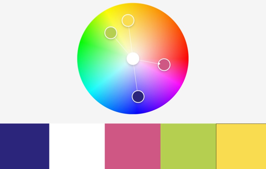 Colors free PowerPoint templates rainbow colors