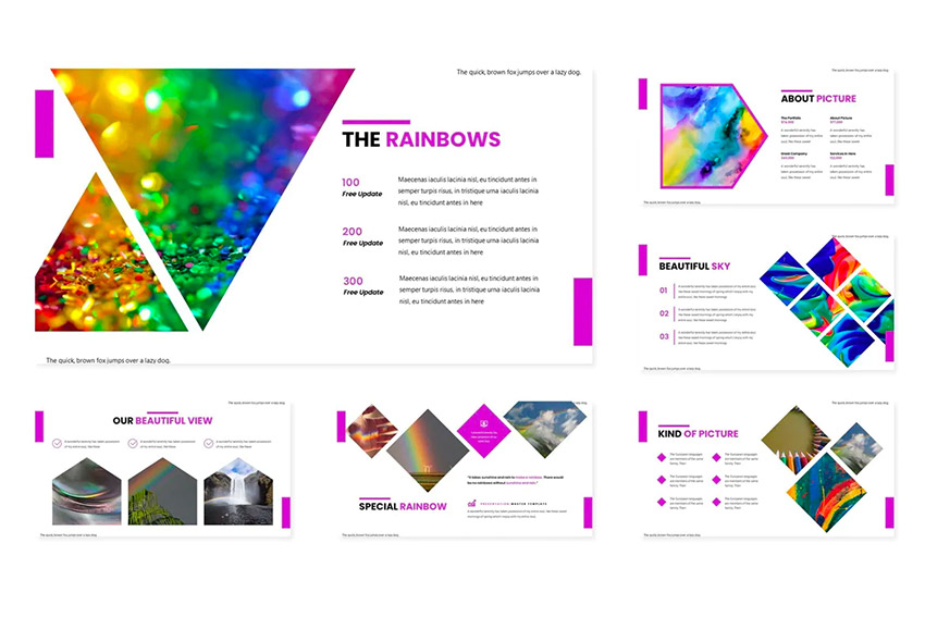 Intro rainbow PowerPoint background
