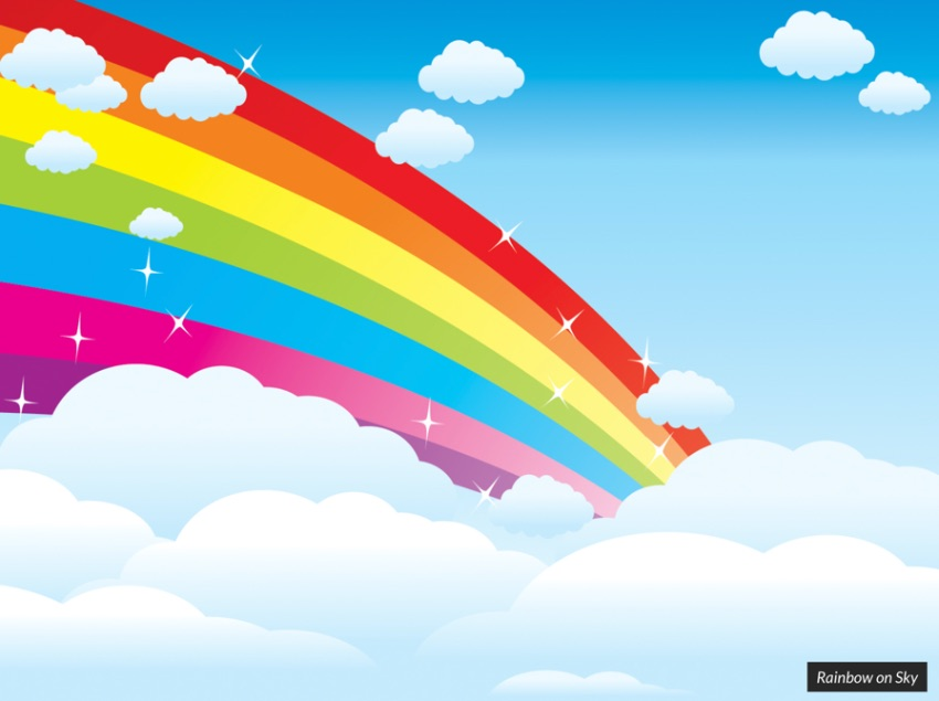 Sky rainbow PowerPoint template