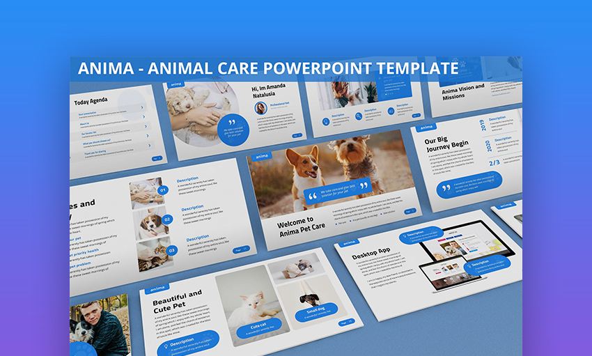 Farm animals PowerPoint template