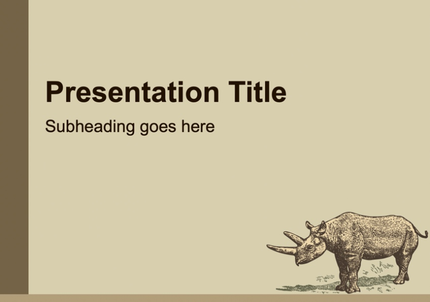 Retro animal Google Slides theme