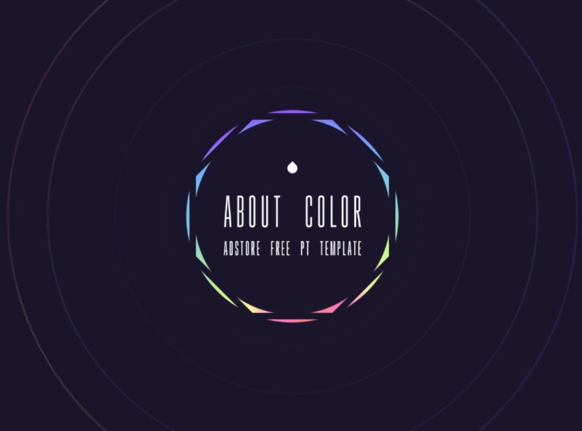 Color neon lights PowerPoint template