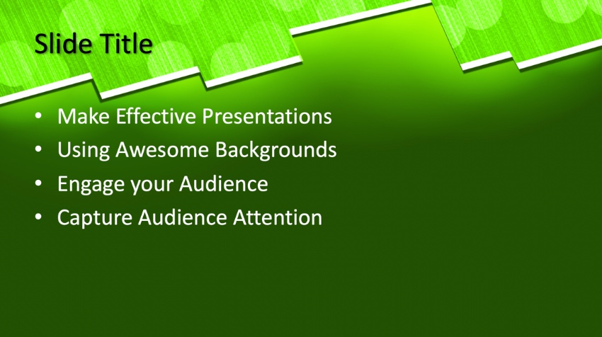 Green neon PowerPoint template