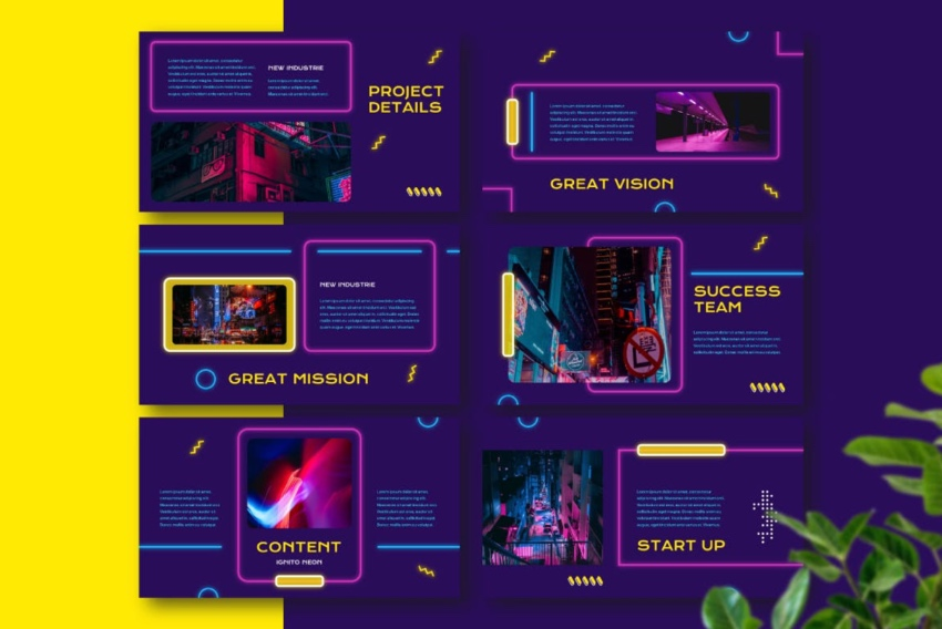 25 Free Neon Powerpoint Templates With Great Ppt Color Effects 2020