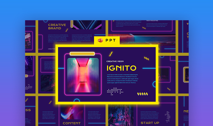 Neon PowerPoint template