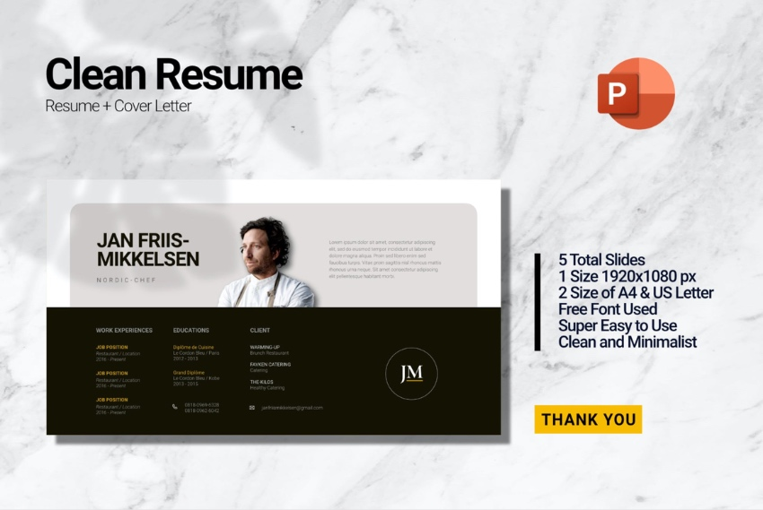 Chef resume PowerPoint