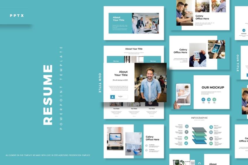 30 Best Creative PowerPoint PPT CV Resume Templates (2021)