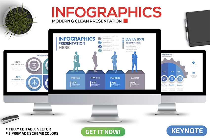 Infographic Keynote templates