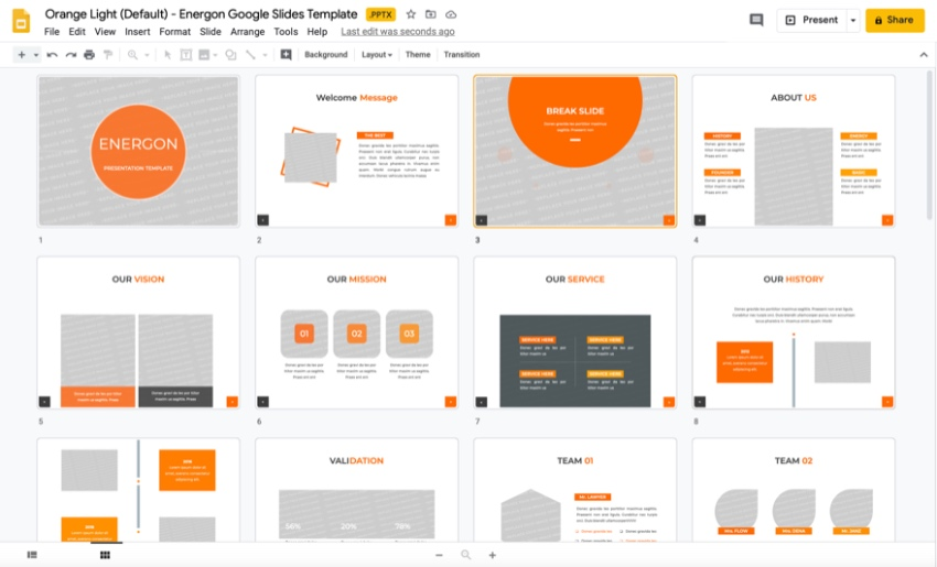 Science Google Slides template